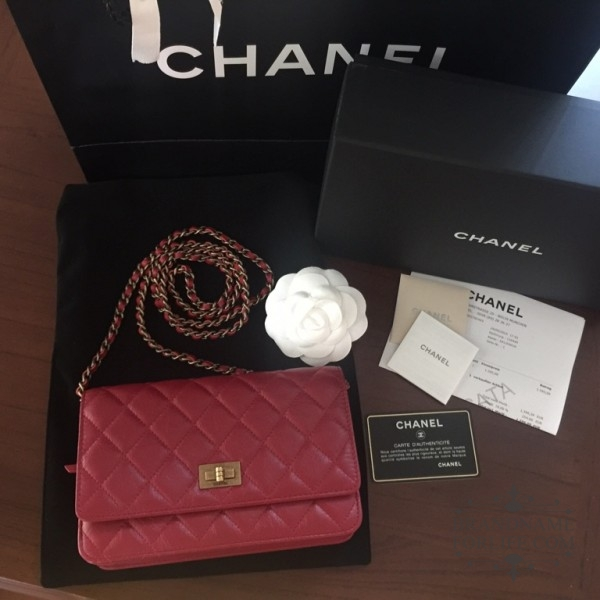 de5eb713baa4 Authentic Pre-loved Chanel Red Calf-skin Wallet-on-chain | Brandname ...