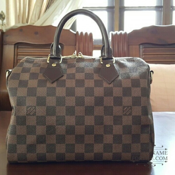 1a7c65f8a238 Authentic Pre-loved Louis Vuitton Damier Ebene Speedy Bandouliere 25 ...