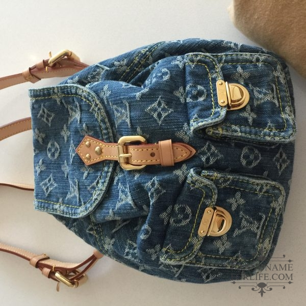 36354e14f258 Authentic Louis Vuitton Denim Sac a Dos PM Backpack