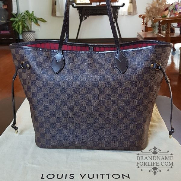 7feaffb848dc Authentic Pre-loved Louis Vuitton Damier Ebene Neverfull MM ...