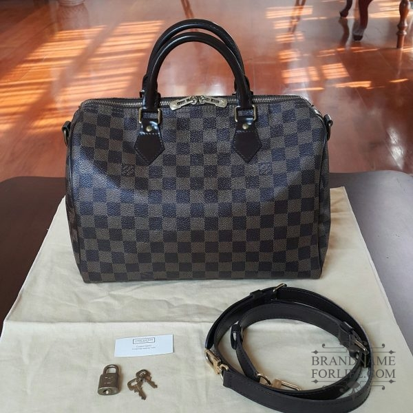 3060a429a373 Authentic Pre-loved Louis Vuitton Damier Ebene Speedy Bandouliere 30 ...